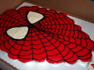 K s Cakes: Giant Spiderman Cupcake Cake