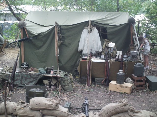 1942 Command Tent & Armbruster displays WWII Tents at Rockford WWII Days | Armbruster ...