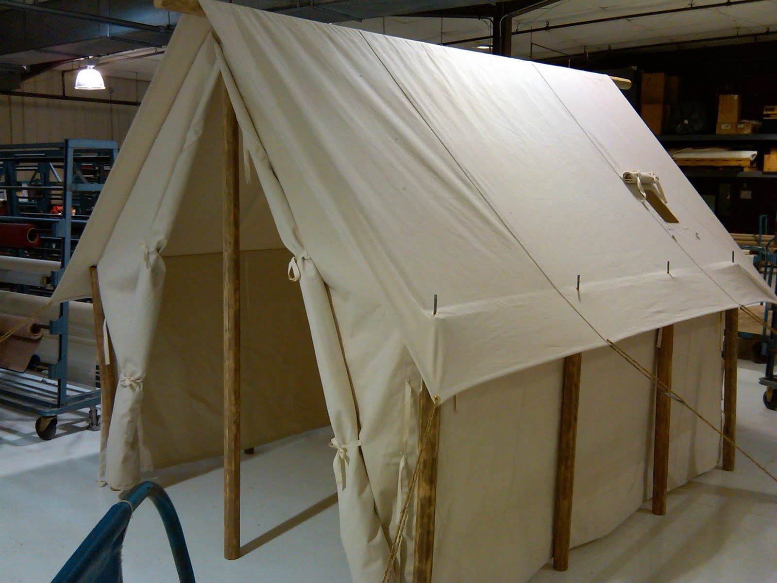 Recently Armbruster had a customer contact us with a specific request. He wanted a turn of the century Outfitter style tent designed to fit within a lodge. & Custom Outfitter Tent for Store Display | Armbruster Tent Maker