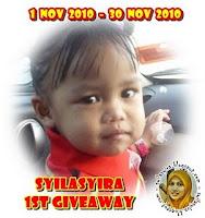 Syilasyira 1st Giveaway (30/11/2010)