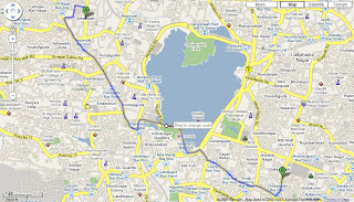 Google Route Map with Google Maps