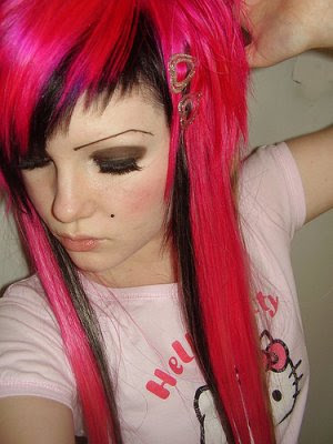 female emo hairstyles. scene hairstyles for girls