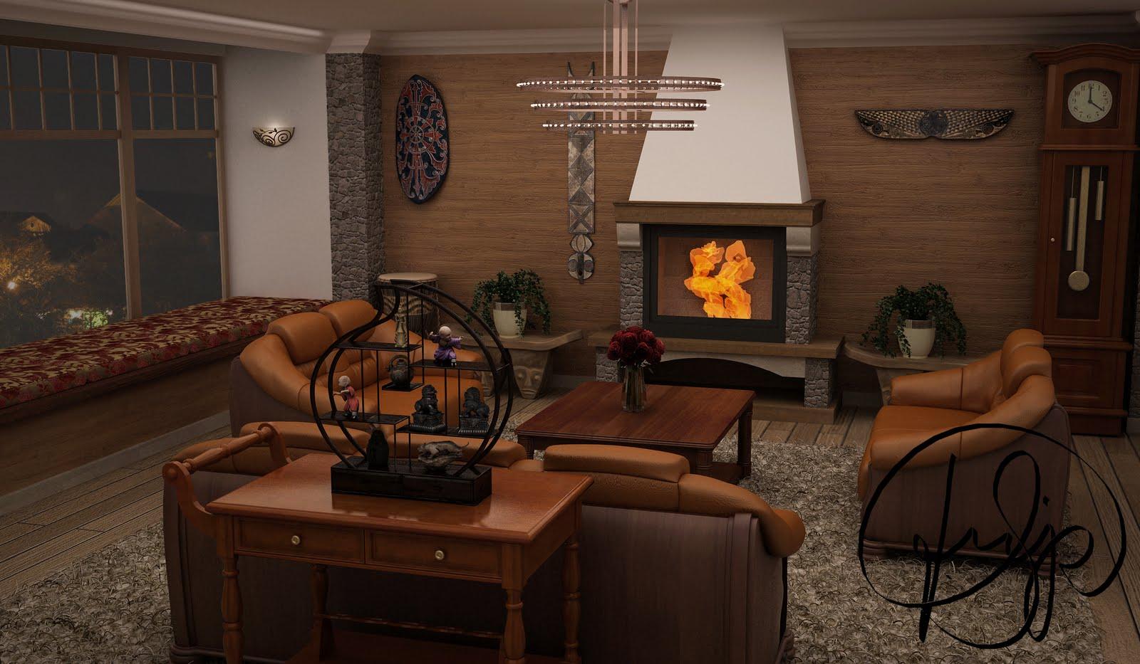 Lareira Em Sala Pequena ~ Phmeier Designer de Arquitetura Projeto Sala Rustica com Lareira