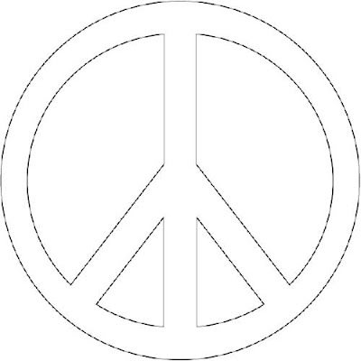 Peace sign coloring