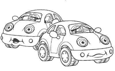 VW car coloring page