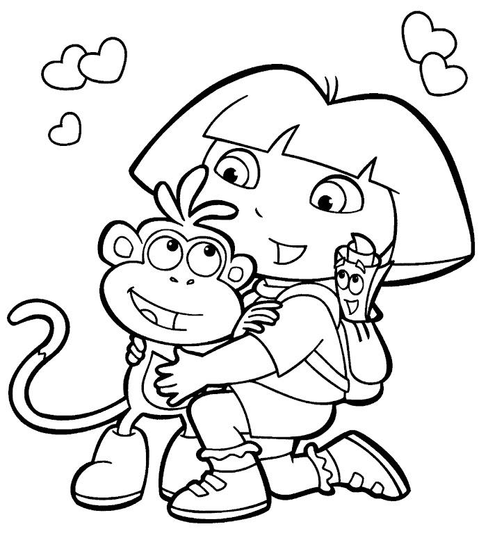 dora the explorer coloring page (part 2) title=