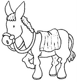 pin donkey outline clip art vector online royalty free on