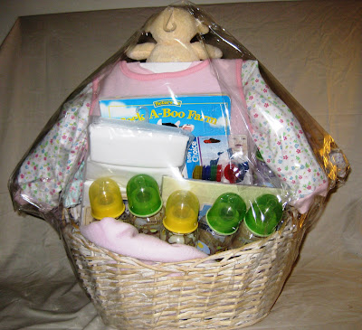 extra large baby shower gift basket back view