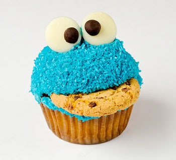 Cookie Monster Cupcake Tutorial