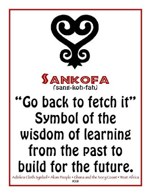 working on my sankofa tattoos. One of my nine pieces is the image above,
