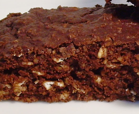 Chocolate Oatmeal Cake Bars (sugar-free, reduced fat, whole grain):