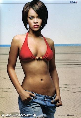 Rihanna Bikini Pic in Concert