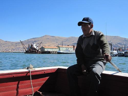 Titicacasee Steuermann