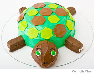 Easy To Make Cake Designs http://thesethingsivelearned.blogspot.com/2009/04/turtle-cake.html