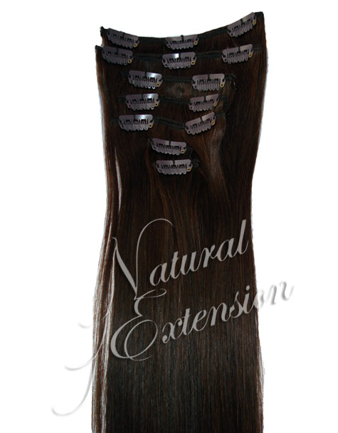 I recently got 19' real human hair dark brown clip in hair extensions.