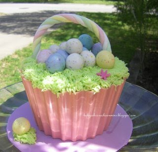 Babycakesbyrachel giant easter basket i found the eggs and the rope at the store and i used the bottom from the giant cupcake pan by wilton this is a quick post i hope you enjoy the idea negle Images