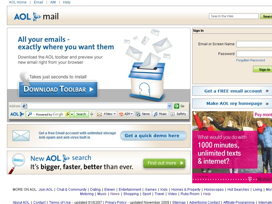 AOL Mail Login Sign