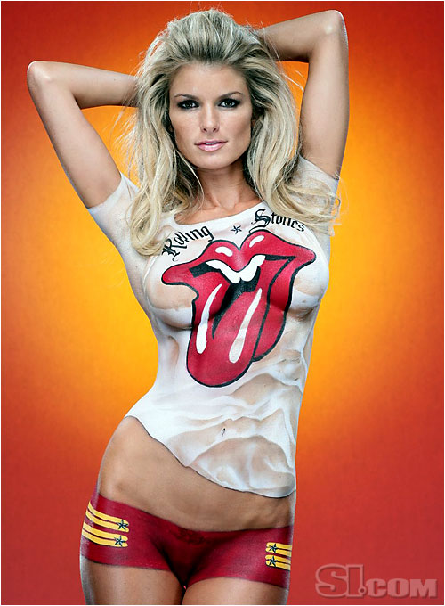 marisa miller body painting