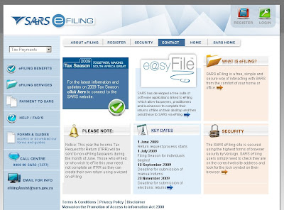 SARS eFiling : Login to www.sarsefiling.co.za