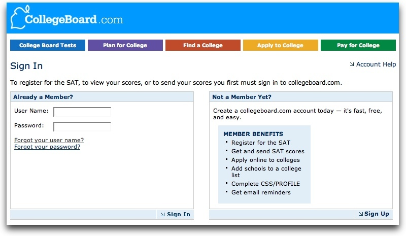 CollegeBoard Login Guide for Students to access Testing tools at ...