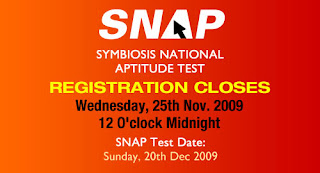 SNAP 2010 | Online Registration Form for SNAP Entrance Test