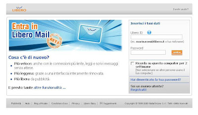 Libero mail login at login.libero.it