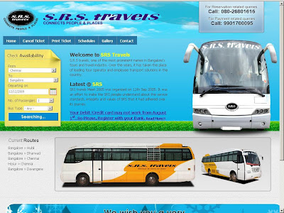 SRS Travels Online Booking : Bus Ticket Booking Website