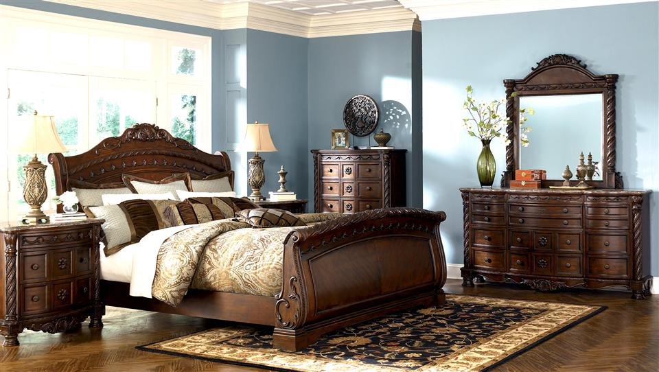 Furniture Discounts ASHLEY North Shore 6pc Sleigh Bedroom Set SALE