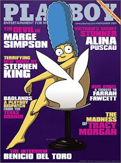 Marge Simpson on the cover of Playboy Magazine