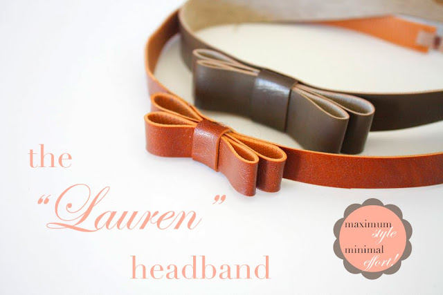 "Serre tête cuir /The ""Lauren"" Headband Tutorial"