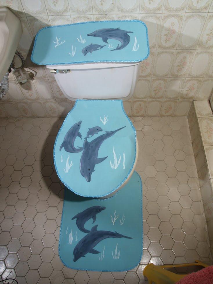 Creaciones Kathy Juegos De Baño:Creaciones MEJ: Delfines en tu baño