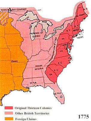 US Slave Original States - 13 original us states map