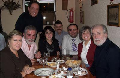 Parte de los miembros de la Tertulia Taurina Itinerante