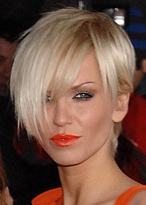 HAIR,HAIRCUTS,HAIRSTYLES 2009:Sarah Harding's short Hair