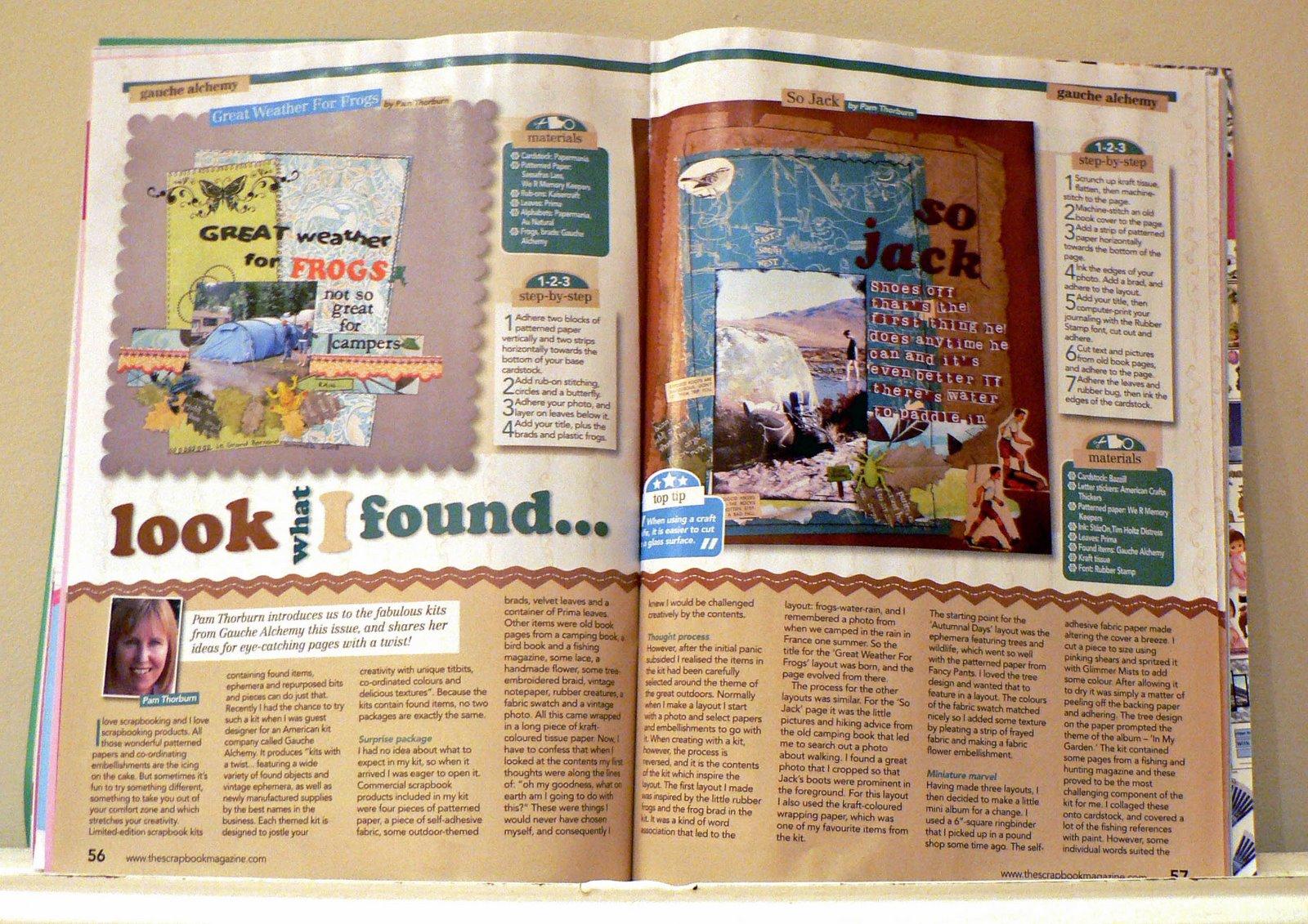 How to scrapbook magazines - The Scrapbook Magazine