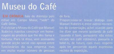 Café Portugal -PASSEIO DE JORNALISTAS em Campo Maior - Museu do Café