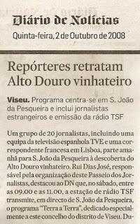 Café Portugal - PASSEIO DE JORNALISTAS em São João da Pesqueira - Diário de Notícias