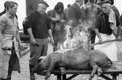 CAFÉ PORTUGAL - Celebração do porco - Benavila - 1990