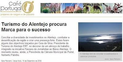 PASSEIO DE JORNALISTASno Grande Lago - revista CAFÉ PORTUGAL