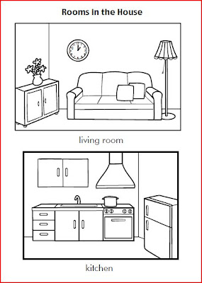 Ingles para ni os fichas the house for Bedroom y sus partes en ingles