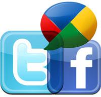 widget redes sociais