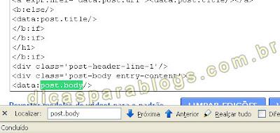 achar códigos no blog