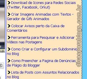 menu com imagens nos links