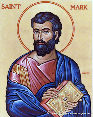 Artistic portrait of Saint Mark.
