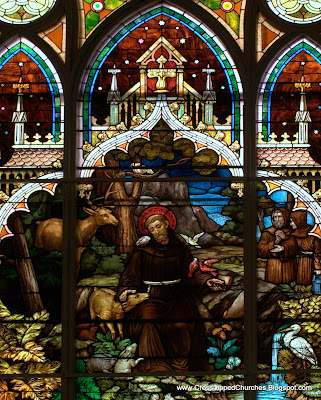 Stained glass window of Saint Francis