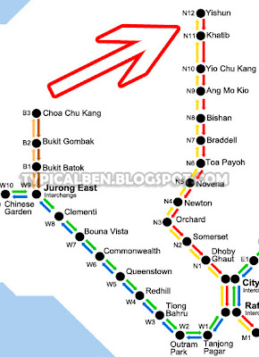 how to go downtown east from yishun