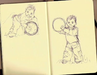 Sketching Little Boys Playing Football Isn T Easy