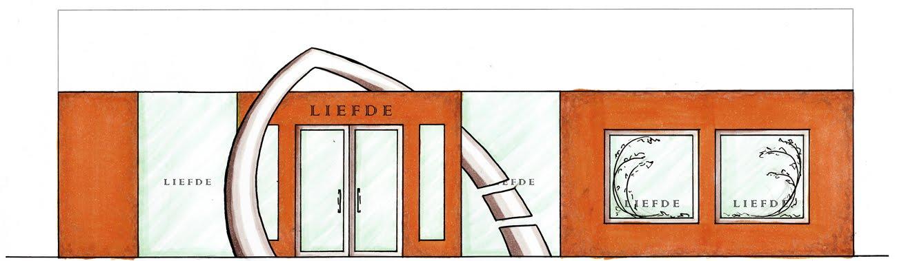[Orange+hand-rend+facade]