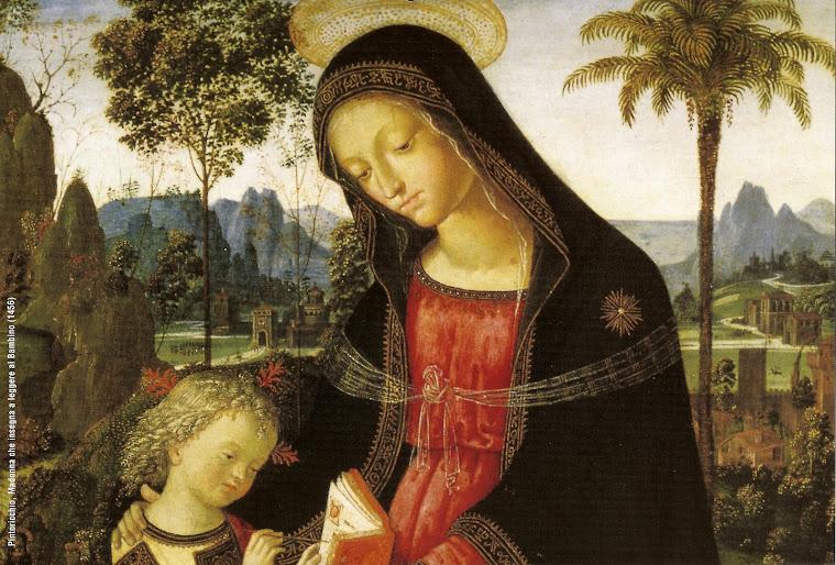 Madonna che insegna a leggere al bambino