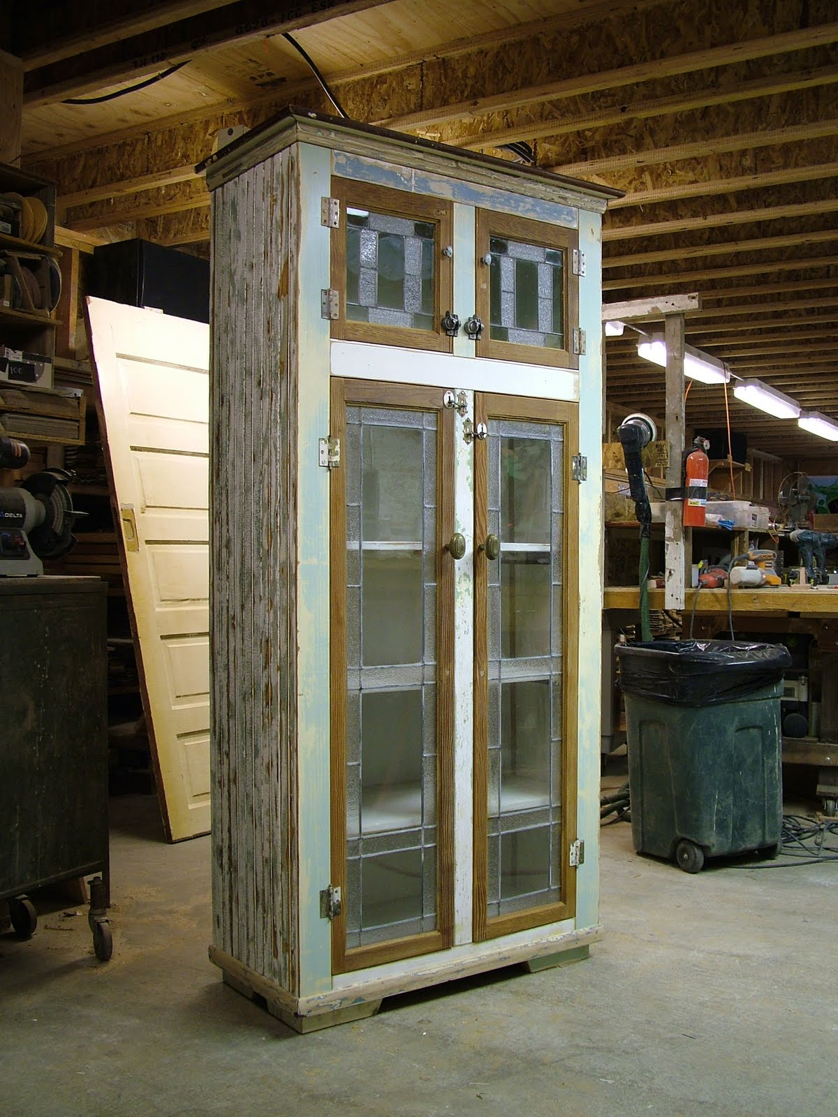 Pantry Cabiwith Glass Doors